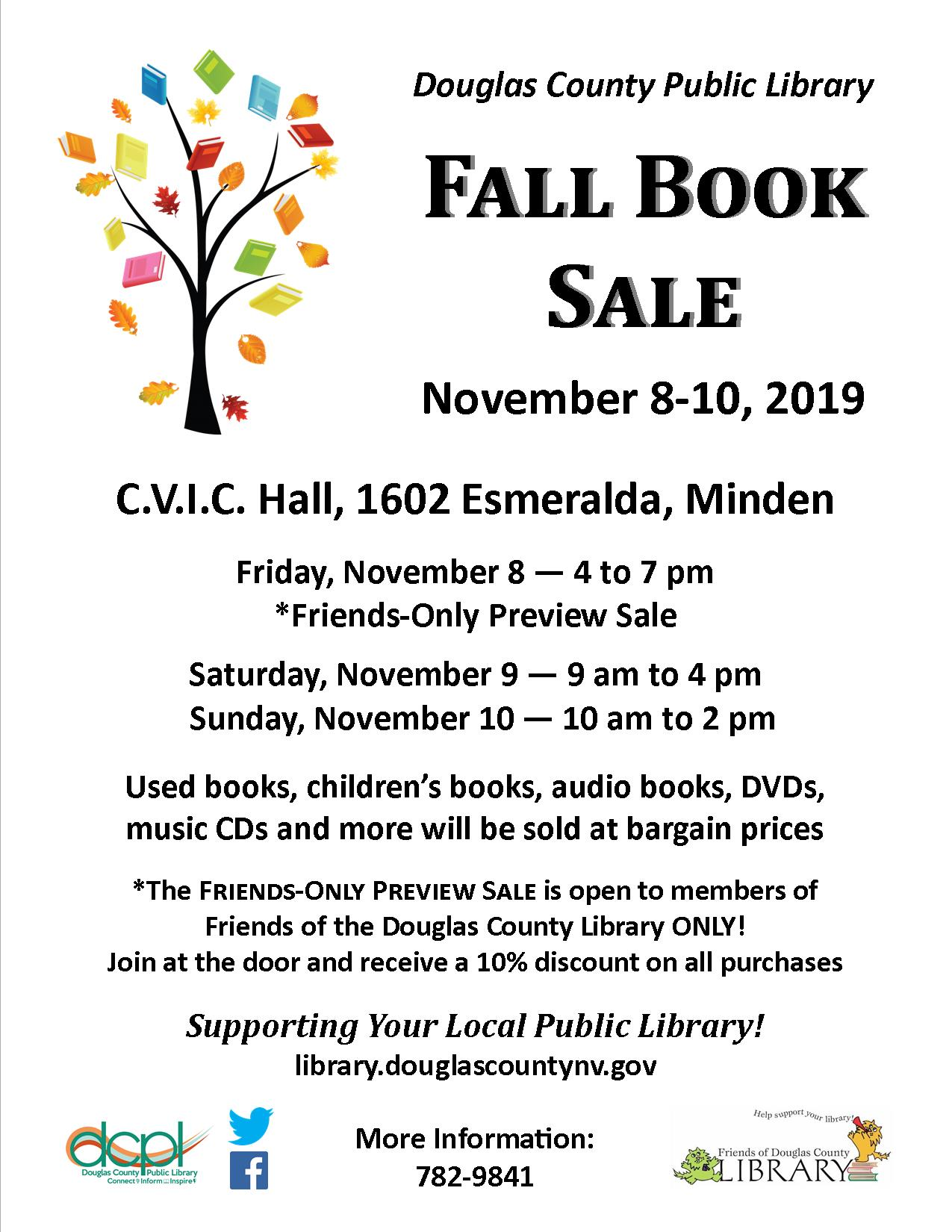 2019 DC Library Fall Book Sale Flyer
