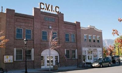 Front of the Carson Valley Improvement Club, or CVIC Building