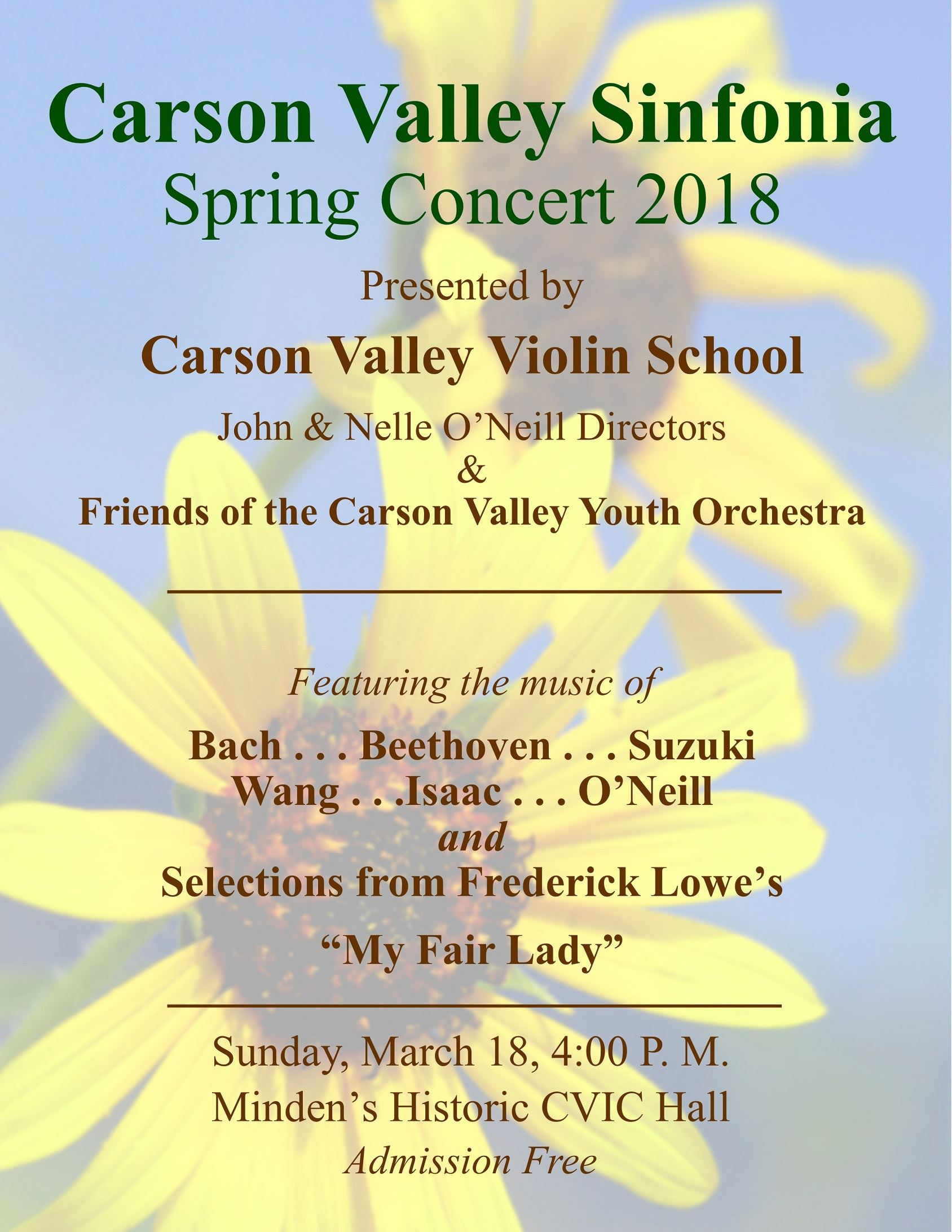 Carson Valley Sinfonia Spring Concert