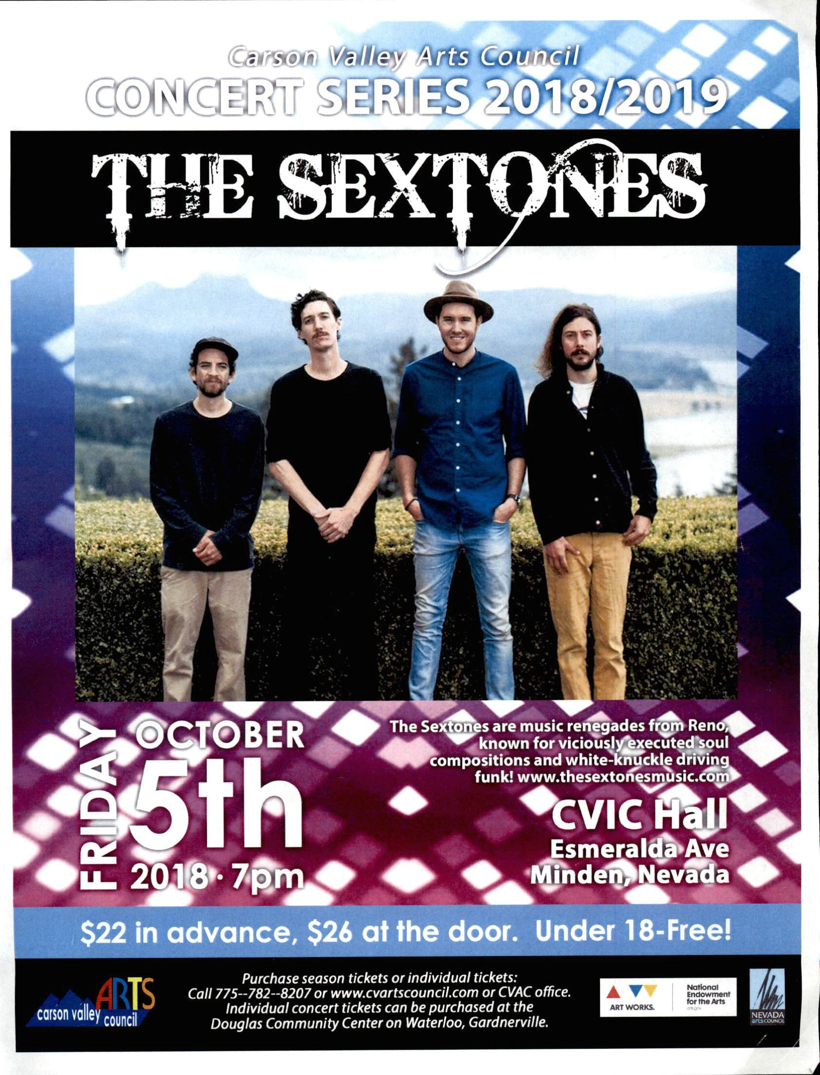 The Sextones Oct. 5th